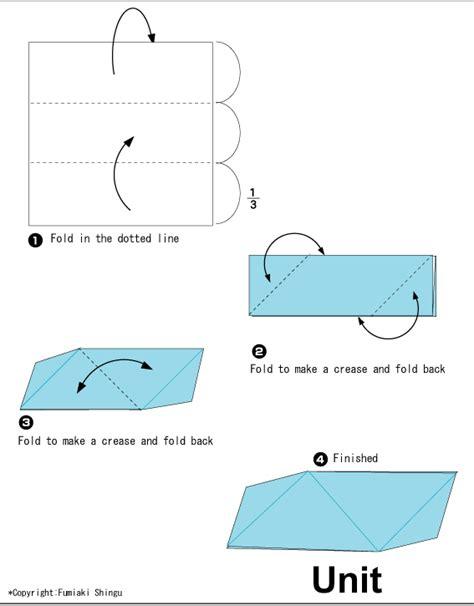 Origami Unit - origami triangular unit easy origami