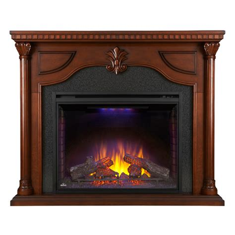 aden electric fireplace mantel package in cherry nefp40
