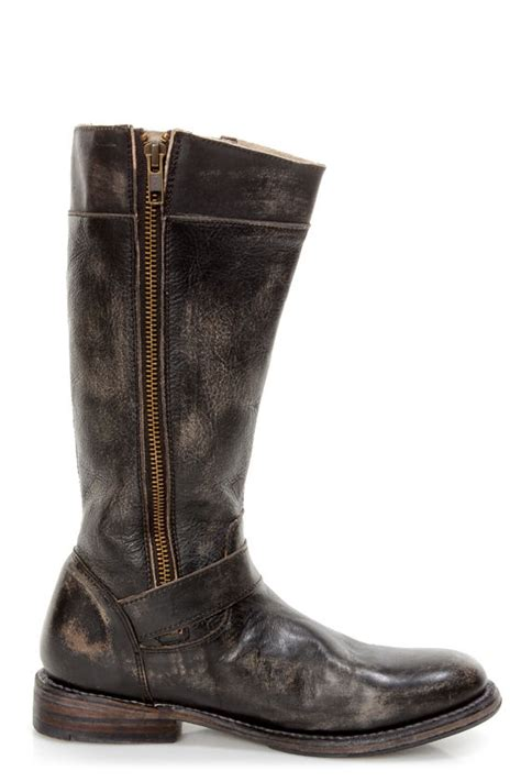 bed stu gogo boots bed stu gogo black hand wash leather belted riding boots