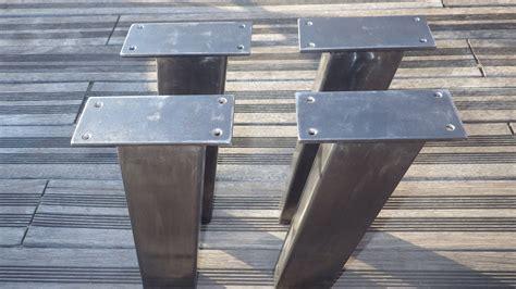 pied de canapé design 4 pieds de table acier inclin 233 s de style industriel pour