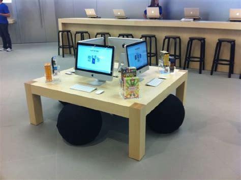 Fetzer Maple Desks by Fetzer Maple Apple Store Display Table Design Ideas