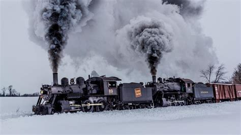 steam locomotive   snow  ultrahd wallpaper backiee