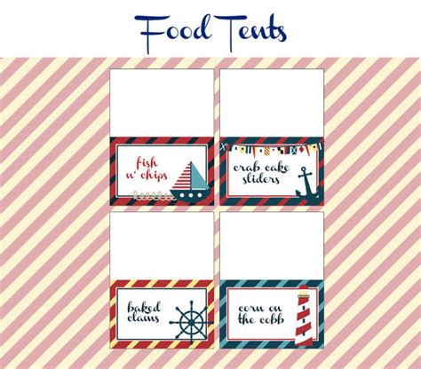 printable nautical labels items similar to nautical birthday party food labels