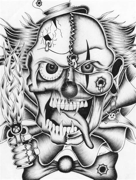crazy clown by ill bounty on deviantart