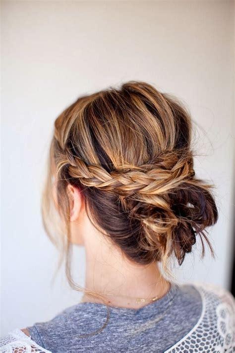 Simple Hairstyles For Medium Length Hair by 15 Photo Of Easy Diy Updos For Medium Length Hair