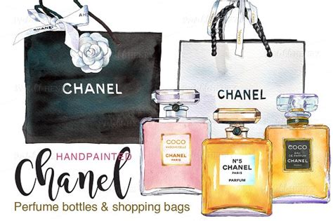 Wall Word Stickers chanel perfume amp shopping bags illustrations on creative
