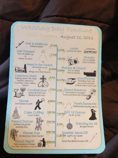 Backyard Wedding Day Timeline Monic S See The Time Line Below To Find Out When To
