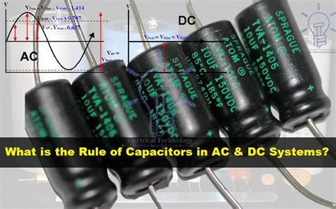 what is the rule behavior of capacitor in ac and dc circuits types of capacitors polar and