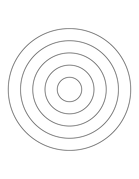 circles template 5 concentric circles clipart etc