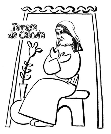 mother teresa coloring pages the blessed teresa of