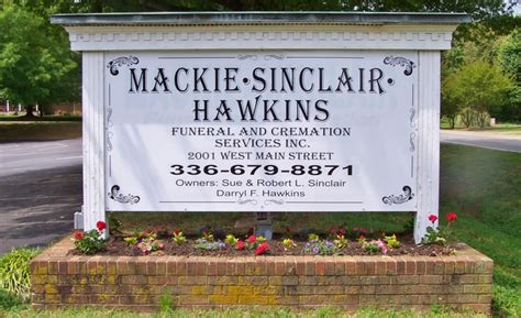 mackie sinclair hawkins funeral crematory service inc