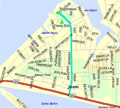 map of destin florida area fl destin map