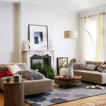elm industrial floor l tillary 174 2 sofa sectional tufted elm