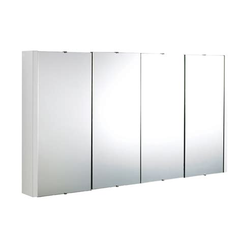 bathroom cabinet mirrors lux 1200mm gloss white 4 door mirror bathroom cabinet ebay