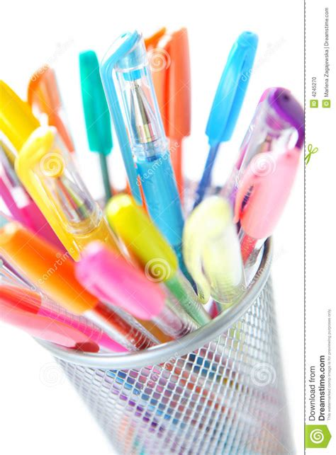 colorful pens colorful pens stock photo image of classroom design
