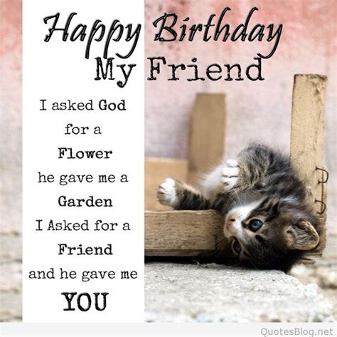 Happy Birthday Friend Quotes Card