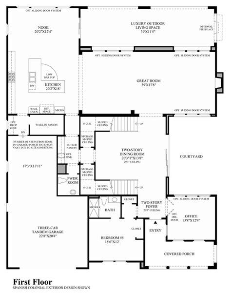 california floor plans enclave at yorba linda the del mar ca home design