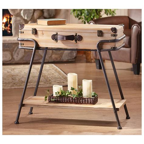 Suitcase Table by Recycled Wood And Metal Suitcase Table 621726 Living