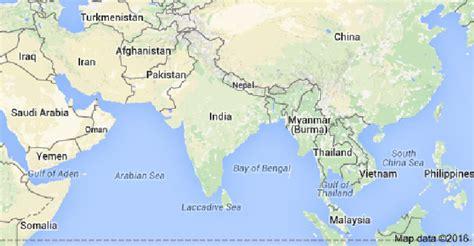 india on map looks like india s new map just scared into