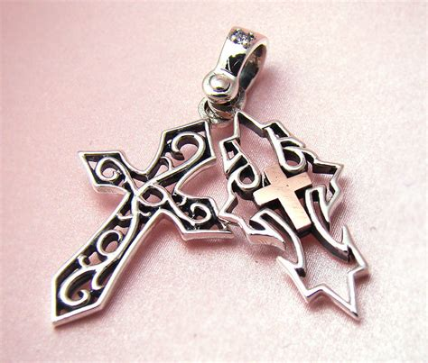 Fashion 7201bs Classic With Fur Charm mens sterling silver cross classic celitc pendant