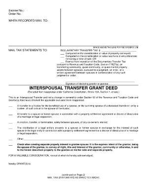 Ca Grant Deed Form Grant Deed Template California