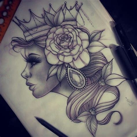 queen face tattoo pinterest nuggwifee art pinterest tatoveringer