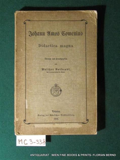 vorbrodt gewicht comenius didactica magna zvab