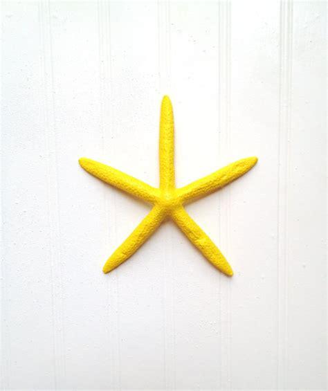 Starfish Wall Decor by Starfish In Yellow Wall Decor Nautical Island Tropical