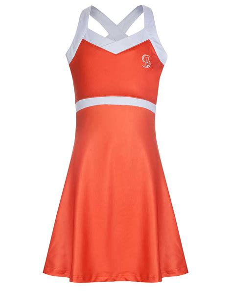 Tannia Dress orange and white tennis dress bace sports wear