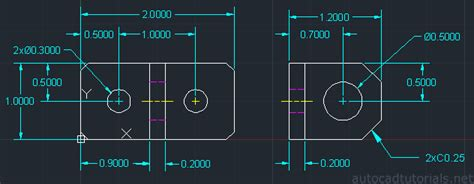 tutorial autocad net how to draw anchor bracket