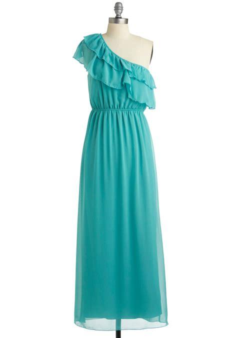 Dress Aquamarine aquamarine maxi dress mod retro vintage dresses