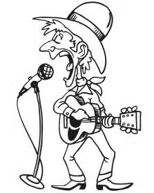 Country Singer Coloring Page sketch template