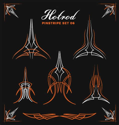 pinstripe pattern in photoshop hotrod pinstripe vector illustration set 06 vector other