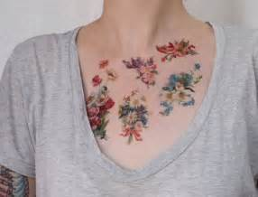 realistic flower tattoos body modification pinterest