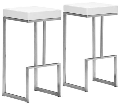 Zuo Modern Bar Stools White by Clawfoot Tub Shower Plan Ideas The Kienandsweet Furnitures