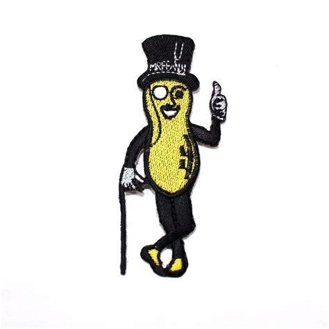 Planters Peanut Mascot mr peanut vintage logo mascot planters snack food fashion t shirt bag iron patch ebay