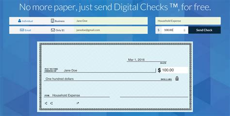 checks book checkbook lets you email anyone a digital check and