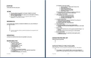 Government Policy Template by Agreement Templates Word Templates