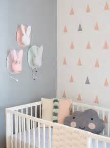 Nursery Decor Pictures Modern And Cozy Baby Nursery With Trendy Triangles Decor Kidsomania