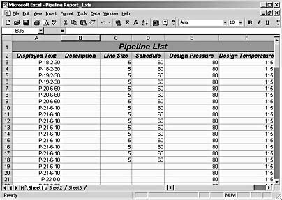 Creating Pipeline Valve And Other Reports Microsoft Visio Version 2002 Inside Out Inside Valve Tag Chart Template