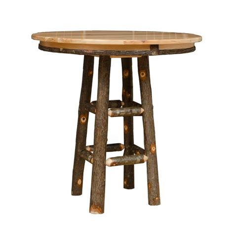 Rustic Bar Table Rustic Hickory And Oak