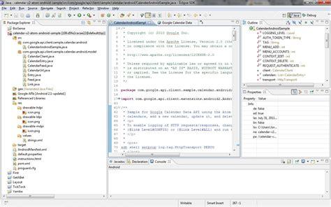 Calendar Api Eclipse Problem Setting Up Client Java Api