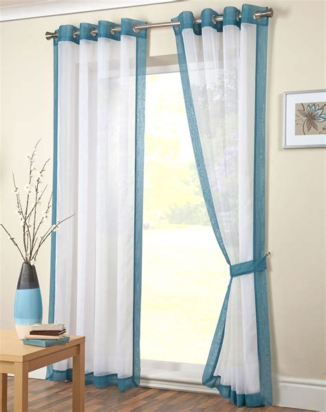 ready made voile curtains uk modern eyelet voile panel plain ring top ready made