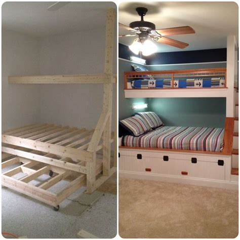 built in loft bed 17 best images about home bunk rooms on pinterest