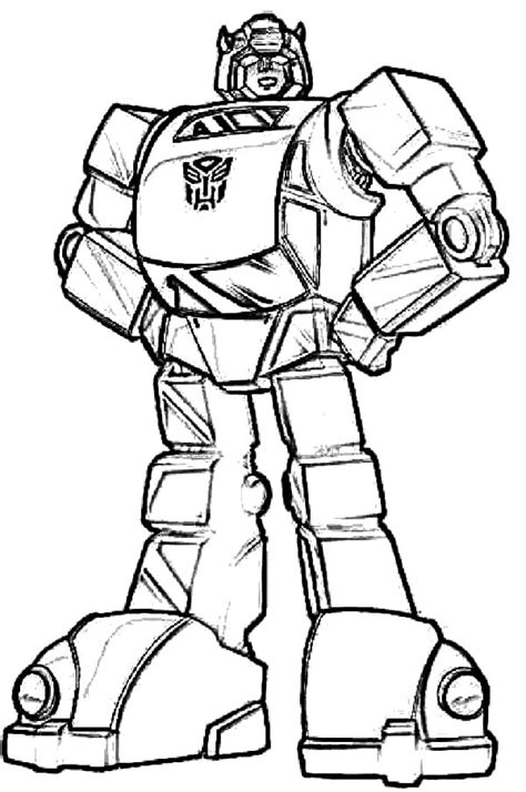 easy transformer coloring page autobots bumblebee car transformer coloring pages