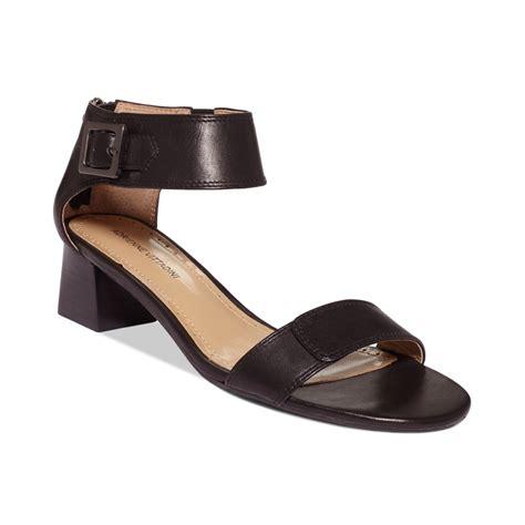 adrienne vittadini sandals adrienne vittadini chambray sandals in black lyst