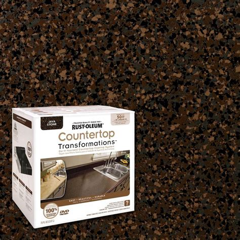 rust oleum transformations 70 oz java large countertop kit 258283 the home depot