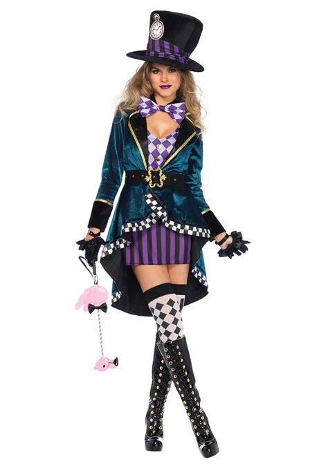 Women's Delightful Hatter Costume Female Mad Hatter Costume