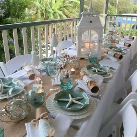 coastal table décor photo from fbook page Coastal Vintage