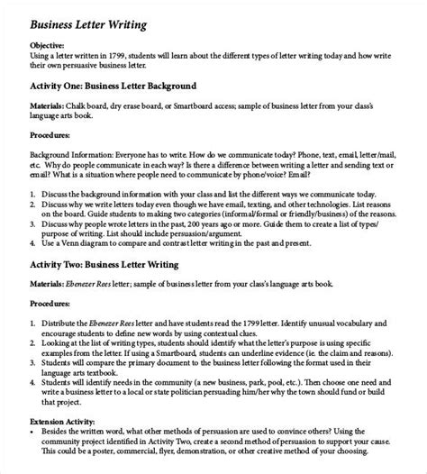 writing a business letter activity 50 business letter template free word pdf documents